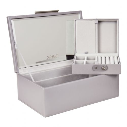 71174 Dulwich Designs  Small Grey Notting Hill Jewellery Box